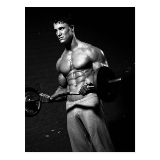 Bodybuilder Postcard #2