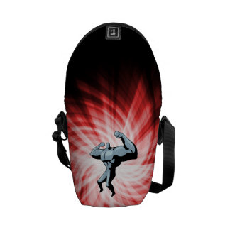 Bodybuilder red messenger bags