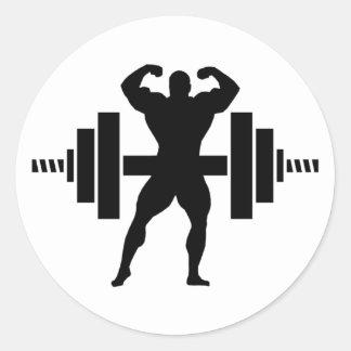 Bodybuilder Classic Round Sticker