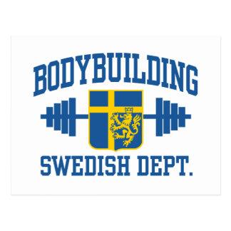 Bodybuilder sueco postal