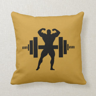 Bodybuilder Throw Pillow