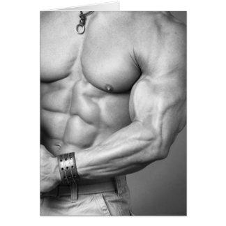Bodybuilder Torso Notecard Stationery Note Card