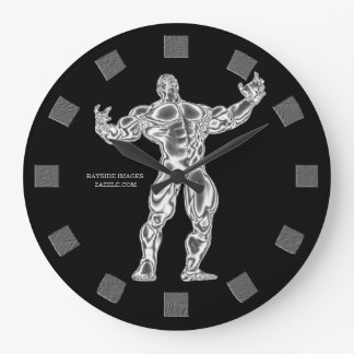 Bodybuilder Wall Clock
