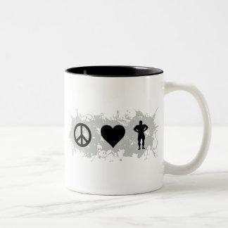 Bodybuilding 1 Two-Tone coffee mug