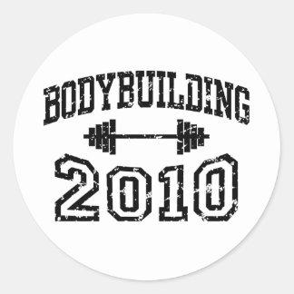 Bodybuilding 2010 classic round sticker
