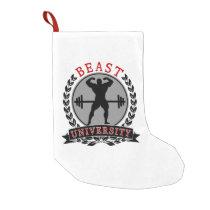 Bodybuilding Beast University Christmas Stocking