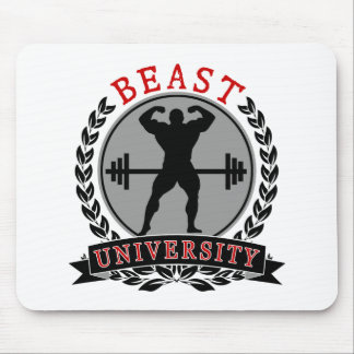 Bodybuilding Beast University Fitness Mouse Pad
