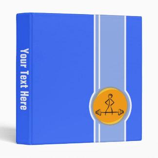 Bodybuilding; blue & orange 3 ring binder