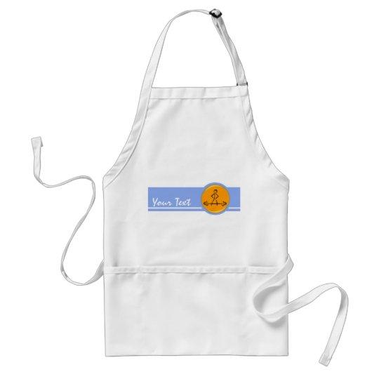 Bodybuilding; blue & orange adult apron