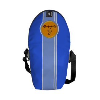 Bodybuilding blue orange messenger bags