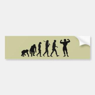 Bodybuilding Bodybuilders evolution gifts & tees Bumper Sticker