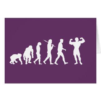 Bodybuilding Bodybuilders evolution gifts & tees Card