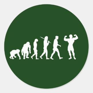 Bodybuilding Bodybuilders evolution gifts & tees Classic Round Sticker