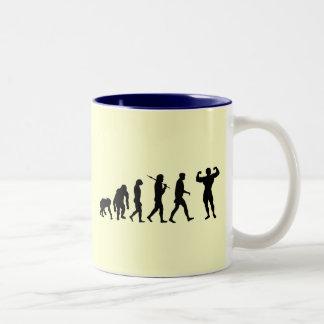 Bodybuilding Bodybuilders evolution gifts & tees Two-Tone Coffee Mug