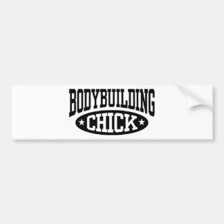 Bodybuilding Chick Bumper Sticker