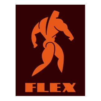 Bodybuilding de la flexión postales