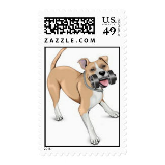 Bodybuilding Dog - Pitbull Stamp
