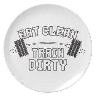 Bodybuilding - Eat Clean Train Dirty Dinner Plate