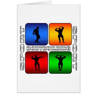 Bodybuilding espectacular tarjeta de felicitación