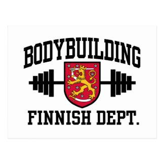 Bodybuilding finlandés tarjeta postal