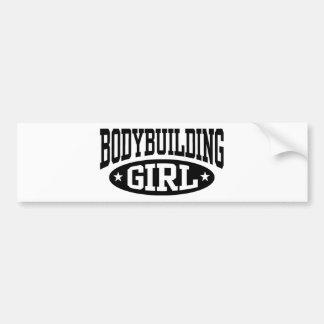 Bodybuilding Girl Bumper Sticker