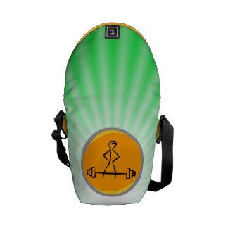 Bodybuilding green orange courier bags