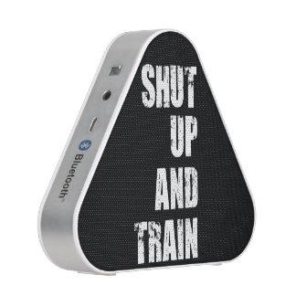 Bodybuilding Gym Motivation - Shut Up and Train Bluetooth Speaker