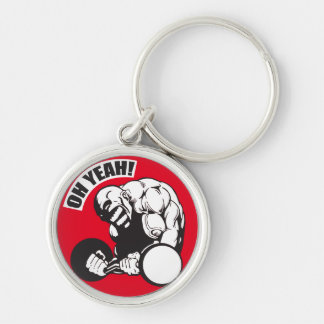 Bodybuilding Gym Workout - Bicep Curl - OH YEAH! Keychain