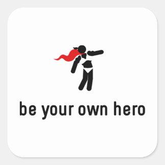 Bodybuilding Hero Square Sticker