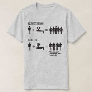 Bodybuilding Humor - Expectation vs Reality T-Shirt