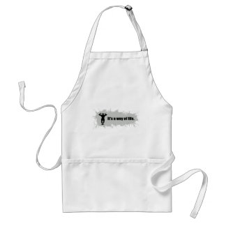 Bodybuilding Is a Way of Life Adult Apron