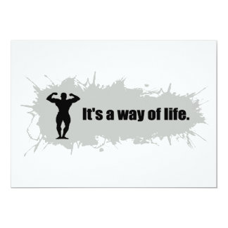 Bodybuilding Is a Way of Life Card