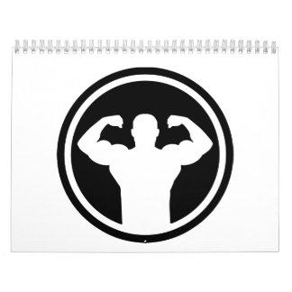 Bodybuilding logo calendar