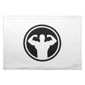 Bodybuilding logo placemats