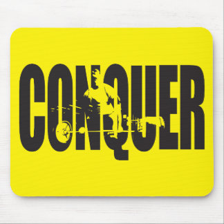 Bodybuilding Motivation - Conquer Mouse Pad