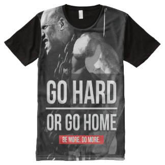 Bodybuilding Motivation - Go Hard or Go Home All-Over Print T-shirt