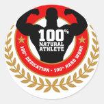 bodybuilding.png classic round sticker