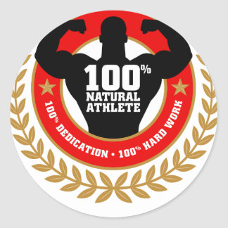 bodybuilding.png classic round sticker