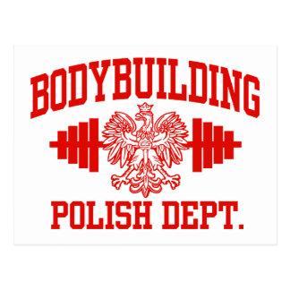 Bodybuilding polaco tarjeta postal