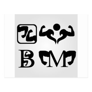bodybuilding postcard