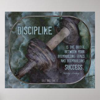 Bodybuilding Poster with Discipline Quote 003