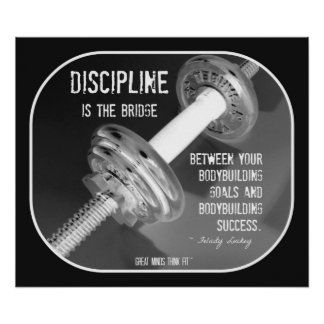 Bodybuilding Poster with Quote 003
