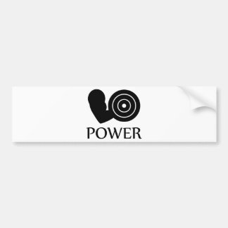 bodybuilding power bumper sticker