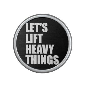 Bodybuilding, Powerlifting - Lift Heavy Things Bluetooth Speaker