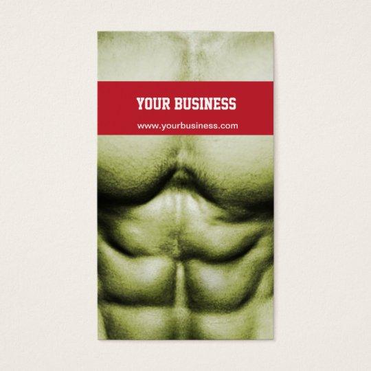 Bodybuilding/Self-Defense Business Card