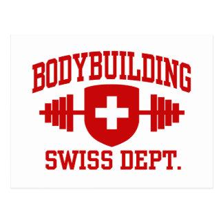 Bodybuilding suizo tarjeta postal