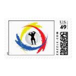 Bodybuilding Tricolor Emblem Stamp