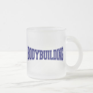 Bodybuilding University Style Frosted Glass Coffee Mug