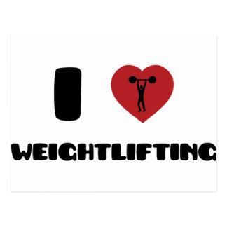 Bodybuilding / Weightlifting Postcard