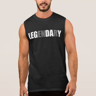 Bodybuliding - Leg Day - Legendary Sleeveless Shirt